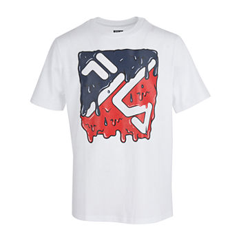 Fila Big Boys Crew Neck Short Sleeve Graphic T-Shirt