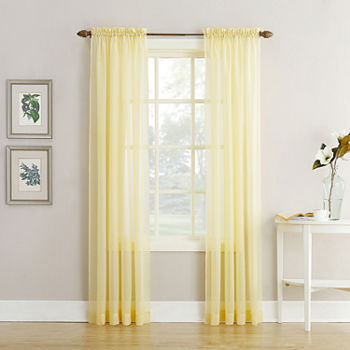 Yellow Sheer Curtains for Window - JCPenney 0a851282ed82