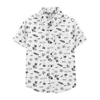 ce739806 Carter's Boys Short Sleeve Button-Front Shirt Preschool / Big Kid. Add To  Cart. New. White