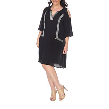 Plus Size 3/4 Sleeve Dresses for Women - JCPenney