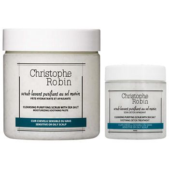 Christophe Robin Cleansing Purifying Scalp Scrub Home & Away Duo