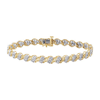 4 CT. T.W. Genuine Diamond 10K Gold Bangle Bracelet