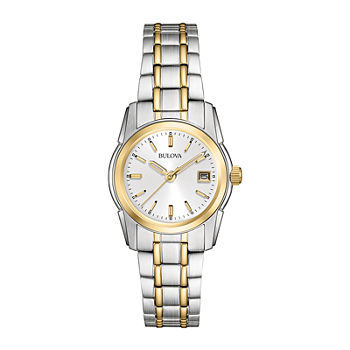 Bulova Classic Womens Two Tone Stainless Steel Bracelet Watch - 98m105