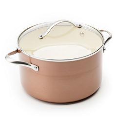 Trisha Yearwood Copper 5-qt. Nonstick Aluminum Casserole Pan with Lid
