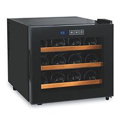 Wine Enthusiast® Silent 12-Bottle Touchscreen Wine Refrigerator