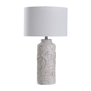 Stylecraft Mirfield 14 W Mirfield Beige Ceramic Table Lamp