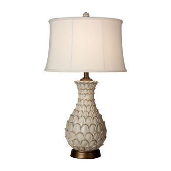 Stylecraft Jane Seymour 17 W White Polyresin Table Lamp