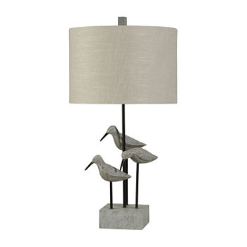 Stylecraft Chittaway Bay 16 W Gray Polyresin Table Lamp