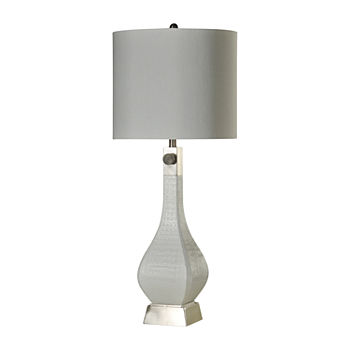 Stylecraft 16 W White Steel Table Lamp