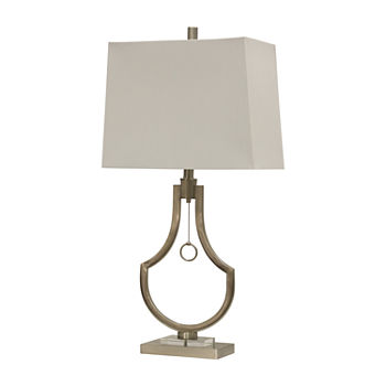 Stylecraft 15.5 W Brushed Steel Table Lamp