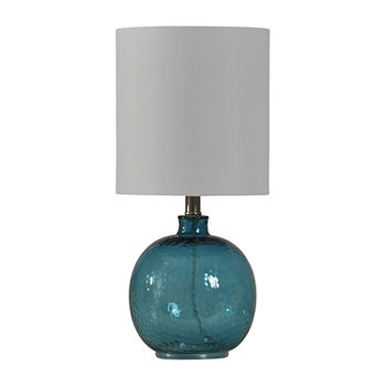 Stylecraft 9.5 W Blue Glass Table Lamp