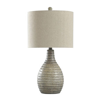 Stylecraft 13 W French Oak Polyresin Table Lamp