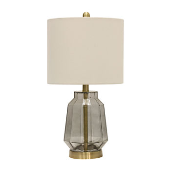 Stylecraft 12 W Grey Glass Table Lamp
