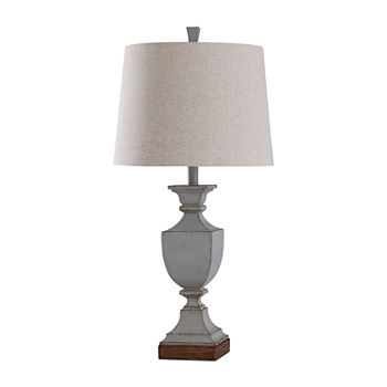 Stylecraft Oldbury 15 W Oldbury Blue Polyresin Table Lamp