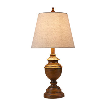 Stylecraft 12 W French Oak Polyresin Table Lamp