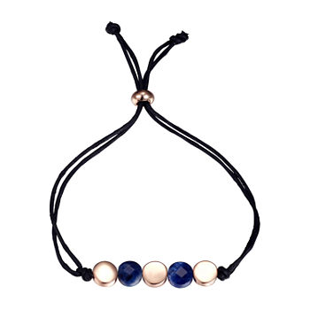 Footnotes Sodalite Healing Stone Silver Over Brass 8 1/2 Inch Link Bolo Bracelet