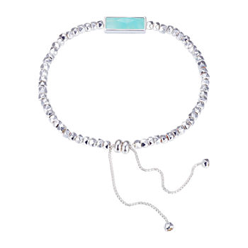 Footnotes Amazonite 8 1/4 Inch Bead Bolo Bracelet