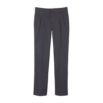 French Toast Little & Big Boys Pleated Flat Front Pant