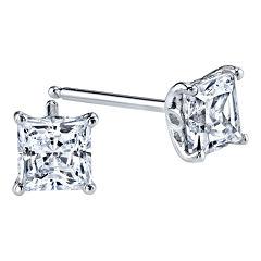 DiamonArt® 1 CT. T.W. Cubic Zirconia Square Stud Earrings