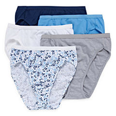 Hanes® Ultimate Cotton Comfort Hi-Cut Panties - 5pk