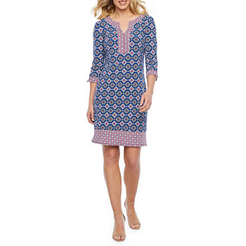 ab05937b204 3 4 Sleeve Dresses for Women - JCPenney
