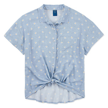 294582761d77c Arizona Button-front Shirts Shop All Girls for Kids - JCPenney