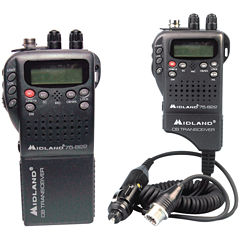 Midland 75-822 Handheld 40-Channel CB Radio with Weather/All-Hazard Monitor & Mobile Adapter