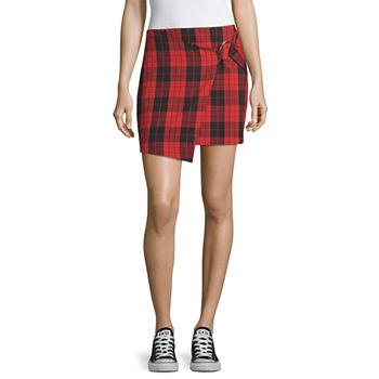 73cf5924d4 Rewash Womens Mid Rise Short Denim Skirt-Juniors. Add To Cart. New. Red  Black