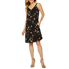 Worthington Sleeveless Floral Shift Dress
