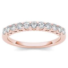 Womens 3/8 CT. T.W. Genuine White Diamond 10K Gold Wedding Band