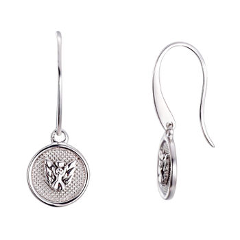 Footnotes Angel Sterling Silver Drop Earrings