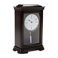 Seiko® Chime Mantel Clock With Pendulum Qxq013blh