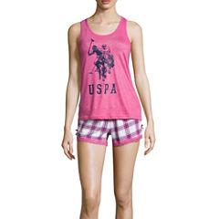 Us Polo Assn. Shorts Pajama Set-Juniors