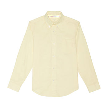 French Toast Little & Big Boys Point Collar Long Sleeve Wrinkle Resistant Dress Shirt