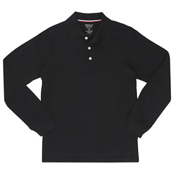 French Toast Long Sleeve Pique Polo Toddler Boys Long Sleeve Stretch Polo Shirt