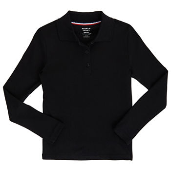French Toast Little & Big Girls Long Sleeve Polo Shirt