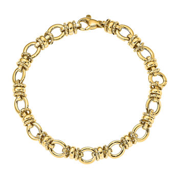 14K Gold 7 3/4 Inch Hollow Link Bracelet
