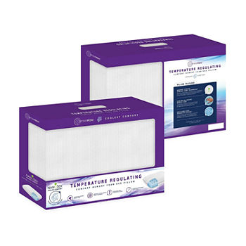 SensorPEDIC® Coolest Comfort Temperature Regulating Gel Infused Conventional Memory Foam Pillow