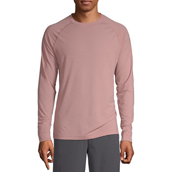 Msx By Michael Strahan Yoga Mens Crew Neck Long Sleeve T-Shirt