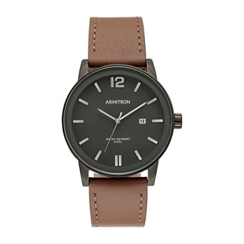 Armitron Mens Leather Strap Watch-20/5440dgdgbn
