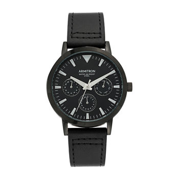 Armitron Mens Leather Strap Watch-20/5443bktibk
