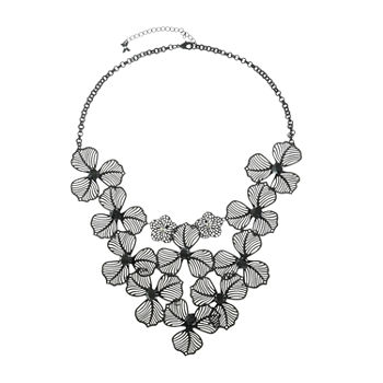 Mixit Flower 21 Inch Cable Statement Necklace