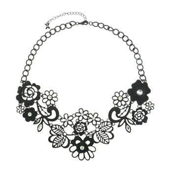Mixit Flower 19 Inch Cable Collar Necklace