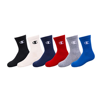 Champion Big Boys 6 Pair Crew Socks
