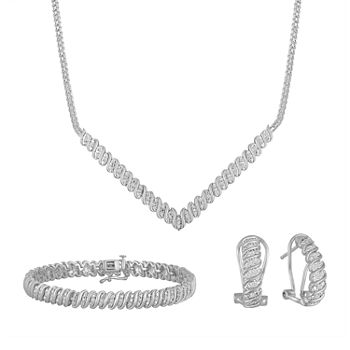Genuine White Diamond 3-pc. Jewelry Set
