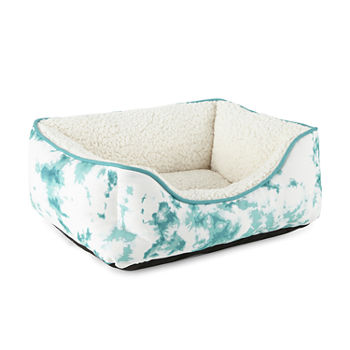 Paw And Tail Tie Dye Pet Bed