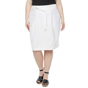 Liz Claiborne Womens Pencil Skirt-Plus