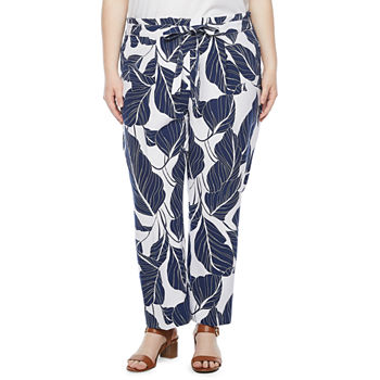Liz Claiborne-Plus Womens Classic Fit Ankle Pant