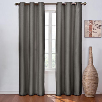 Eclipse Madison Energy Saving Blackout Grommet-Top Single Curtain Panel
