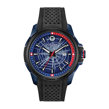 Citizen Marvel Marvel Mens Black Strap Watch-Aw1156-01w